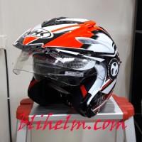 harga Helm Nhk Aviator Nrs White Orange Tokopedia.com
