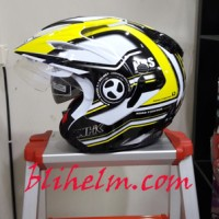 harga Helm Nhk Aviator Nrs White Yellow Tokopedia.com