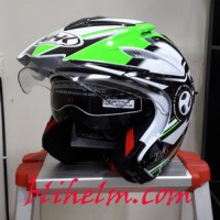 harga Helm Nhk Aviator Nrs White Green Tokopedia.com