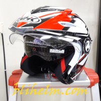 harga Helm Nhk Aviator Nrs White Red Tokopedia.com