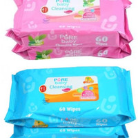 BUY 1 GET 1 Pure Baby Cleansing Wipes / Tisue basah / Tissue baby
