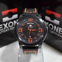 Jam Tangan Exone 8866229 Black List Orange Men Original