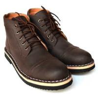 Sepatu Pria Black Master Zara Coklat Boots Kulit Asli Tracking Touring
