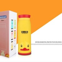 A078 Botol Termos ANIMAL Stainless Insulated Cartoon Mik Bottle
