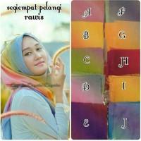 Segiempat pelangi rawis / jilbab pelangi / hijab murah