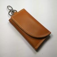 Jual dompet STNK kulit sapi asli model unik warna tan | gantungan kunci Murah