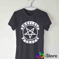 T-shirt | Kaos Motley Crue Pentagram Logo