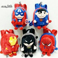 Jual Tas Ransel Backpack Anak Import Boneka Karakter Superman Spiderman Murah