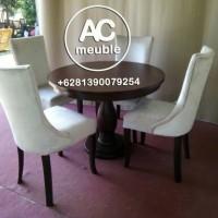 Set meja makan,meja makan bundar kursi 4