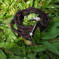 harga Gelang Tali Prusik / Paracord Bracelet Hitam Merah Tokopedia.com