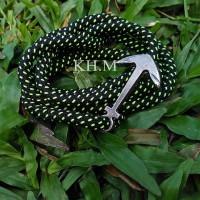 harga Gelang Tali Prusik / Paracord Bracelet Hitam Hijau Tokopedia.com