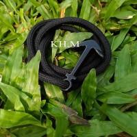 Jual Gelang Tali Prusik / Paracord Bracelet Hitam polos Murah