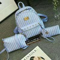 tas tristan salur 3in1 /tas ransel wanita / tas fashion wanita
