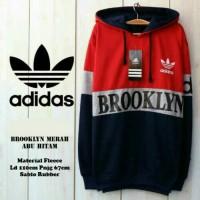 Adidas Brooklyn Merah Abu Hitam / Jaket Murah / Grosir Jaket