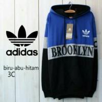 Adidas Brooklyn Biru Abu Hitam / Jaket Murah / Grosir Jaket