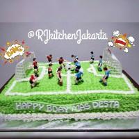 Football Birthday Cake/Kue tema Sepak Bola
