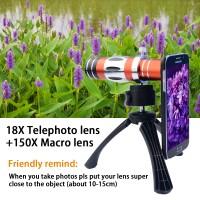 Harga 2in1 18x tele zoom telescope lens kit 150x super macro iphone 6 | Pembandingharga.com