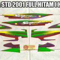 Striping Supra STD 2001 Full Hitam ( Hijau )