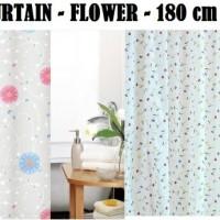 Shower Curtain Flower 180x180 / Gorden / Tirai kamar mandi anti air