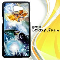 Dragonball Z Cell Vs Goku Z1600 Casing HP Samsung Galaxy J7 Prime Cus