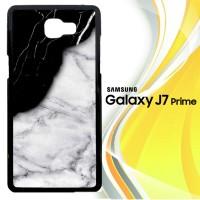 Black White Marble E0652 Casing HP Samsung Galaxy J7 Prime Custom Cas