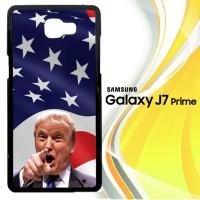 Donald Trump American Flag Background R0070 Casing HP Samsung Galaxy J