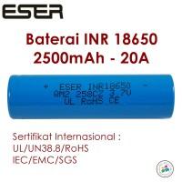 Jual Eser 18650 Baterai Vapor 2500mAh 20A Baterry Vape Vaporized (B25N) Murah