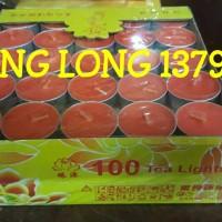 Lilin Tablet/Tealight Candle Merah 100 Pcs