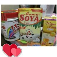 Jual Paket hemat 1 asi booster tea + 1 mama soya + 1 mama honey busui Murah