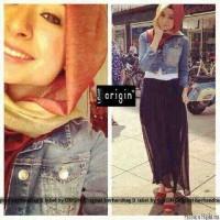 FG - [Hijab Salvador ORIGIN] Setelan Muslim Jaket+Rok+baju+pashmina SP