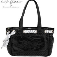 Baby Phat Diaper Bag Faux Leather