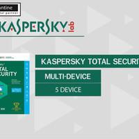 Kaspersky Total Security / Pure 2017 5 Pc 1 Tahun