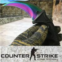 READY STOCK!! CS GO Karambit Knife Fade Counter Strike claw knife