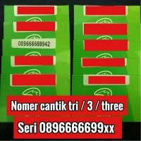 harga nomor cantik kartu 3 / tri / three nomer cantik kartu perdana Tokopedia.com