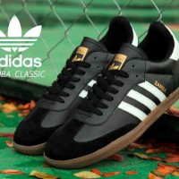 harga Sepatu Pria Adidas Samba Classic Black Sol Gum Casual Sneakers Kuliah Tokopedia.com