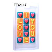 Cetakan Coklat Tulisan I love You Kotak Valentin / TTC 147 GieShop