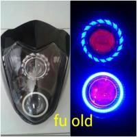 harga REFLEKTOR FU/BATOK LAMPU DEPAN SATRIA FU 150 PLUS PROJIE LED Tokopedia.com