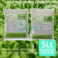 AB Mix 5L Konsentrat (Bubuk) Pupuk/Nutrisi Hidroponik Sayuran Daun
