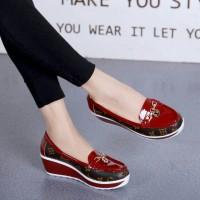 harga Sepatu Import LV Wedges 11VL106 KW Semi Premium Tokopedia.com