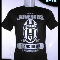 Baju Kaos Distro Juventus Logo Silver A-62