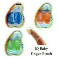 sikat gigi lidah jari iq baby silicone finger brush