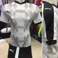 Setelan Jersey Bola Futsal Lokal Polosan Puma Lecester Putih
