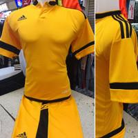 Setelan Jersey Bola Futsal Lokal Polosan Adidas Kerah Kuning