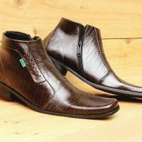 harga Sepatu Pria Kickers Pantofel Resleting Brown Kulit Serat Kayu Formal Tokopedia.com