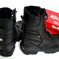 harga Sepatu Pria Kickers Pdl Black Boots Kulit Asli Touring Hiking Tracking Tokopedia.com