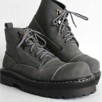 Sepatu Pria Black Master New Underground Grey Boots Kulit Asli Touring