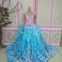gaun pengantin mewah wedding gown murah baju pengantin ekor panjang