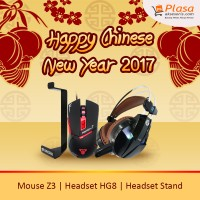 FANTECH HEADSET GAMING HG8 + FANTECH HEADSET STAND + MOUSE GAMING Z3