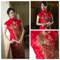 Longdress Cheongsam Jaguard - Dress Cheongsam MDP025