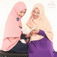 Hijab Syar'i Alila - Khimar Daisy Pink and Peach